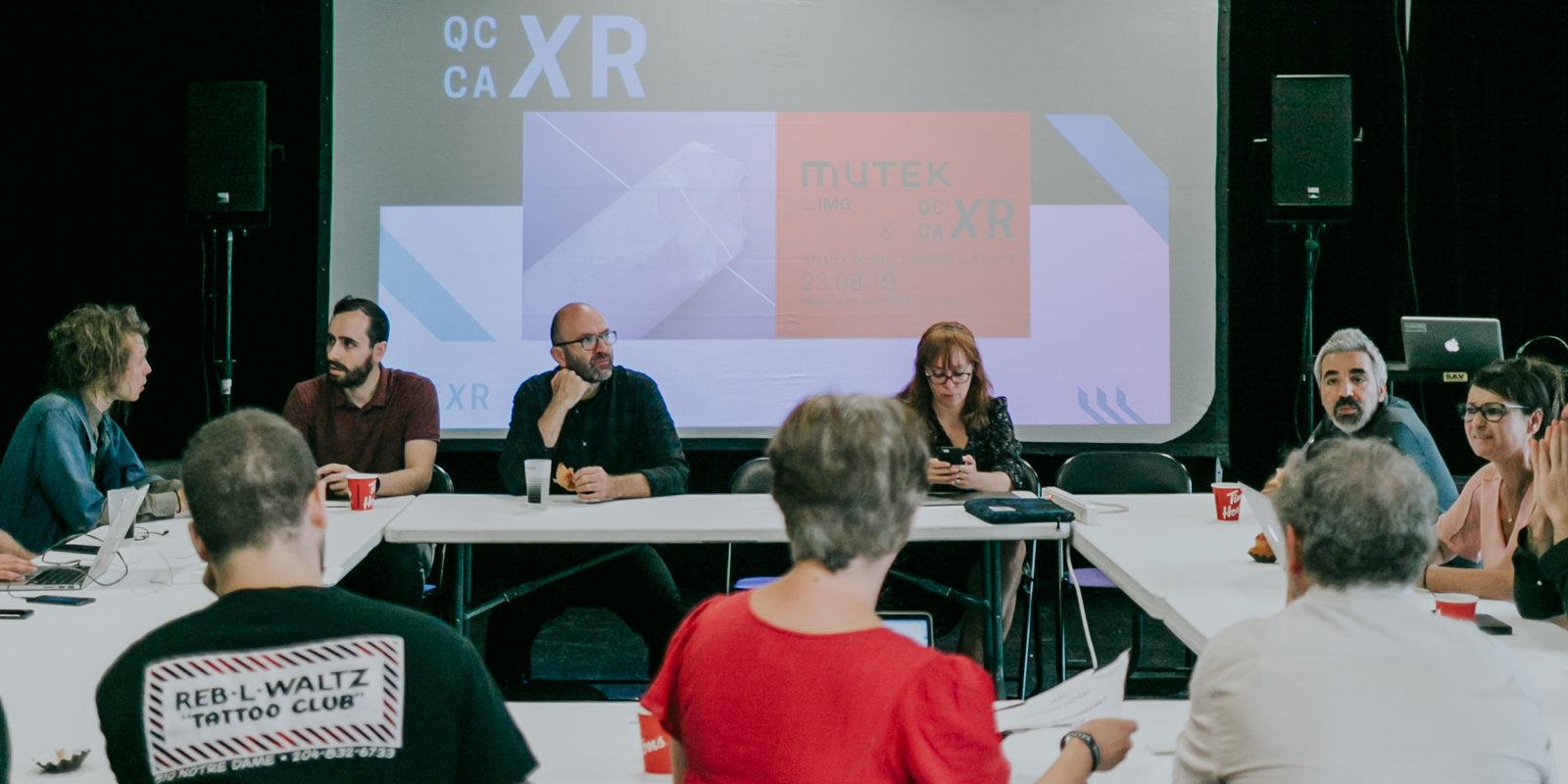 Retour sur le 1er atelier de discussion Qc/Ca XR - Mutek